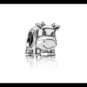 COPY - Authentic Pandora silver COW charm / bead